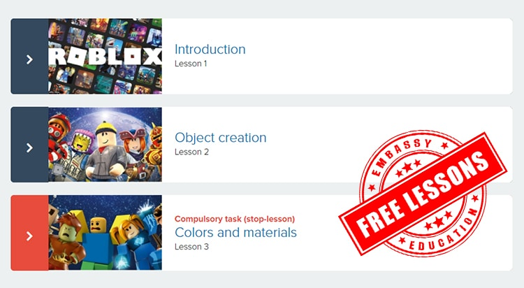 Free 3 roblox lessons