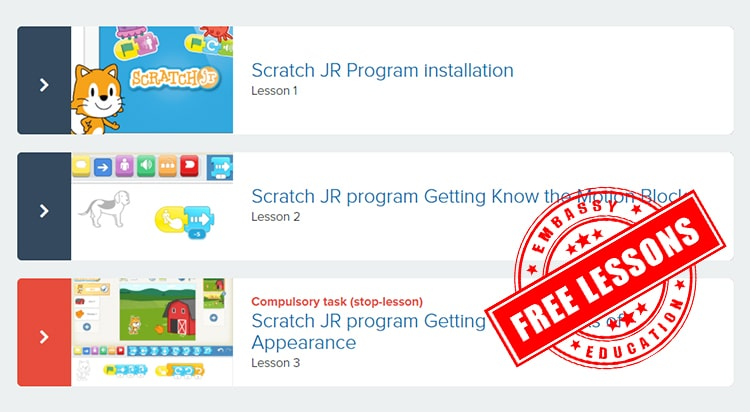 Free 3 Scratch Jr lessons